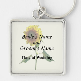 Sunflower Standing Tall Wedding Products Keychain