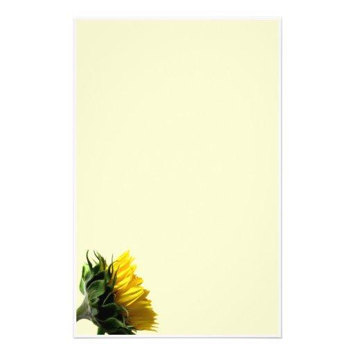 Sunflower Customized Stationery