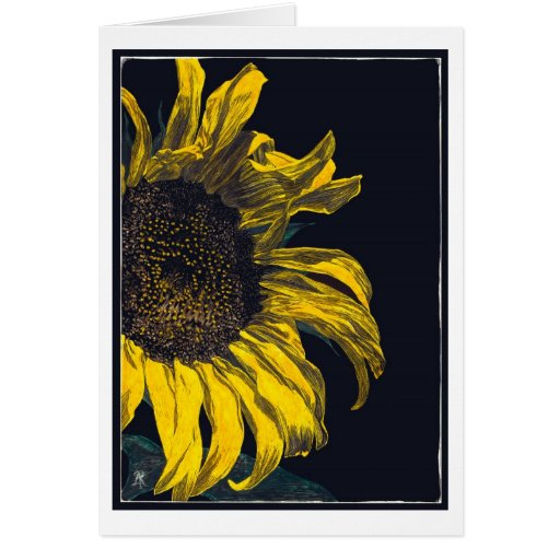 Sunflower Stationery Note Card