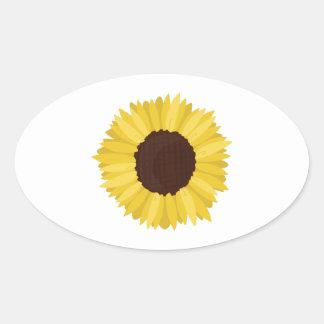 Sunflower Oval Sticker
