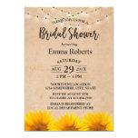 Sunflower & String Lights Kraft Bridal Shower Card