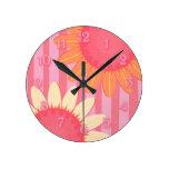 Sunflower Stripe Clock