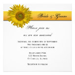 Sunflower Stripe Wedding Invitation