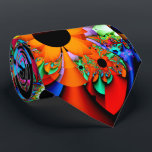 """Sunflower Style Fractal Double-sided Tie<br><div class=""""desc"""">This tie features my fractal art image &quot;Sunflower Style&quot; with shapes resembling bright sunflowers. Colors include red,  orange,  purple,  pink,  green,  aqua and black.  Design printed on both sides.</div>"""