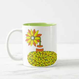 Sunflower Submarine Two-Tone Coffee Mug