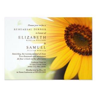 Summer Sunflower Rehearsal Dinner Invitations