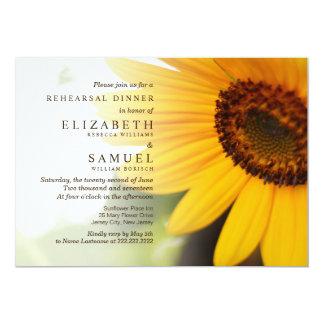 Sunflower Summer Rehearsal Dinner Invite