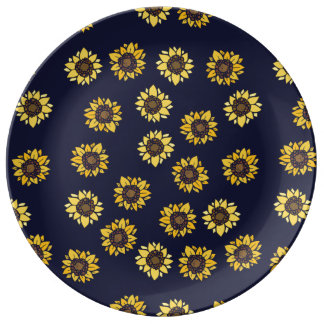 Sunflower summer sunshine plate
