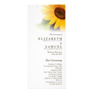 Summer Sunflower Wedding Programs