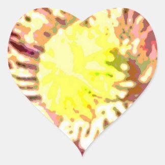 Sunflower Sun Flower Heart Sticker