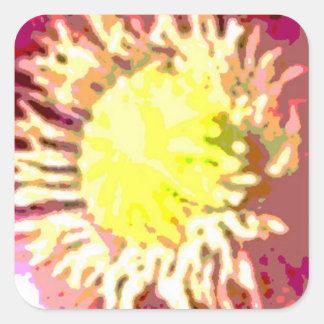 Sunflower Sun Flower Square Sticker