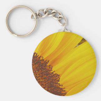 Sunflower Sun Keychain