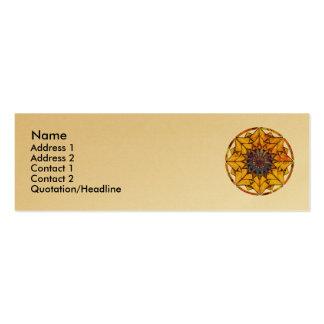 Sunflower Sun Profile Cards Mini Business Card