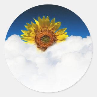 Sunflower Sunrise Classic Round Sticker
