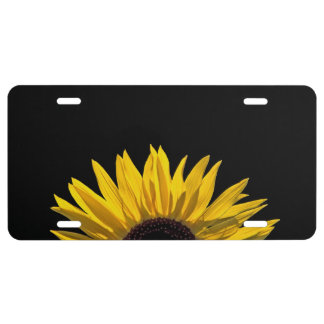 Sunflower Sunrise License Plate