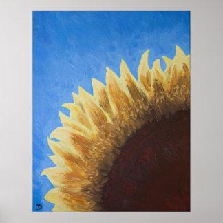 Sunflower Sunrise Painting Poster
