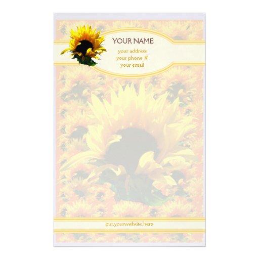 Sunflower Sunrise Personalized Stationery