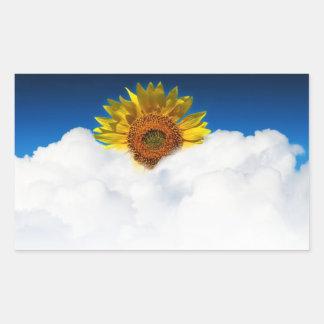 Sunflower Sunrise Rectangular Sticker