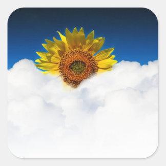 Sunflower Sunrise Square Sticker