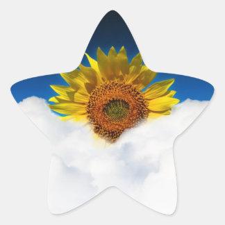 Sunflower Sunrise Star Sticker