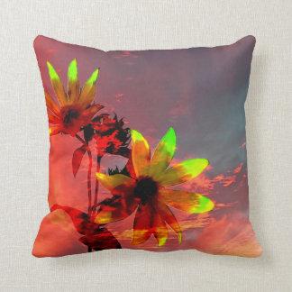 Sunflower Sunset Photo Throw Pillow