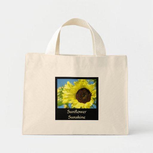 SUNFLOWER SUNSHINE Canvas Tote Bag Sun Flowers