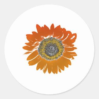 Sunflower Sunshine Classic Round Sticker