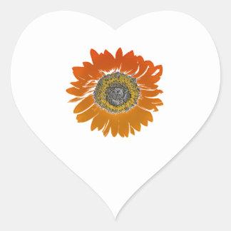 Sunflower Sunshine Heart Sticker