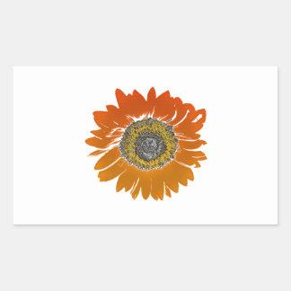 Sunflower Sunshine Rectangular Sticker