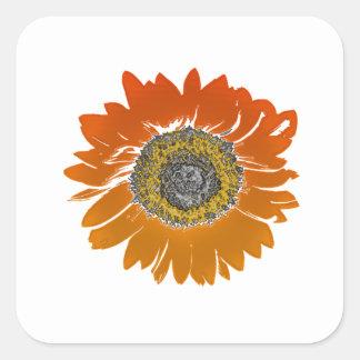 Sunflower Sunshine Square Sticker