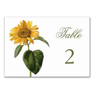 Sunflower Table Card