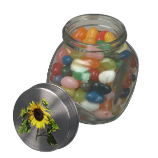 Sunflower Taking a Bow Glass Candy Jars