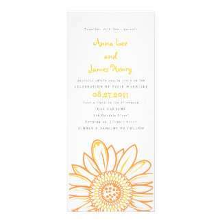 Sunflower Tea Length Wedding Invitation