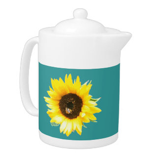 Sunflower Tea Pot - Teal