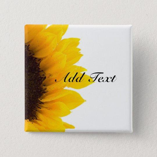Sunflower Template | Sunflower Template Button Zazzle Com
