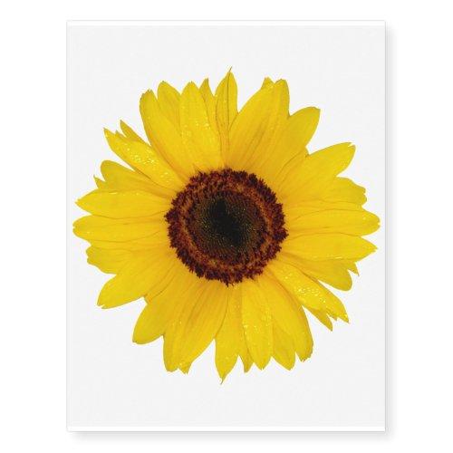 Sunflower Temporary Tattoos