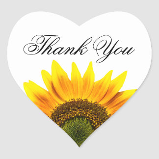 Sunflower thank you envelope or favor seals