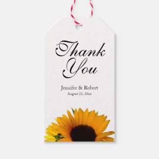 Sunflower Thank You Gift Tags