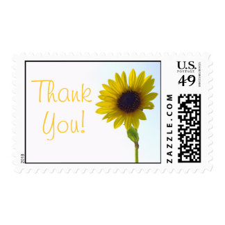 Sunflower Thank You Stamp