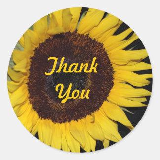 Sunflower, Thank You Sticker