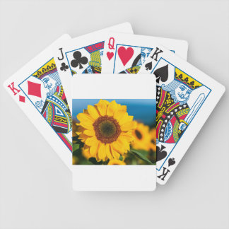 Sunflower The Morning Flower Garden Sunny The Sun Bicycle Playing Cards