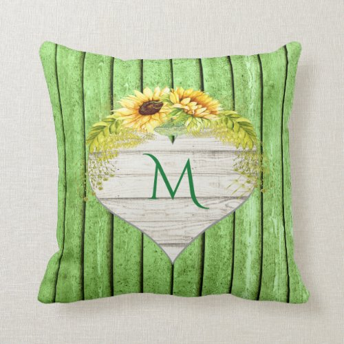 Sunflower Theme Pillow