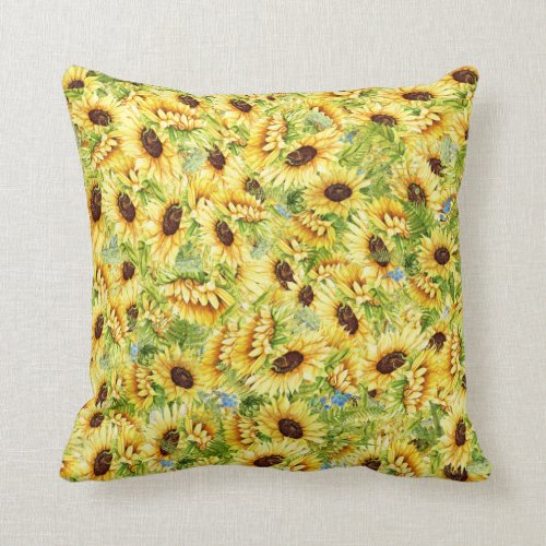 Sunflower Theme Pillow - See Back
