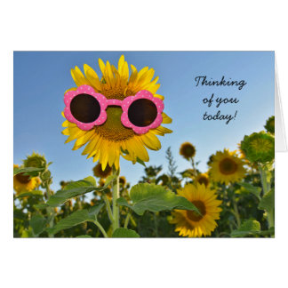 Sunflower thinking of you card