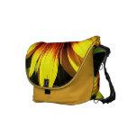 Sunflower Through the Fence Messenger Bag