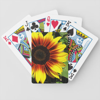 Sunflower Through the Fence Playing Cards