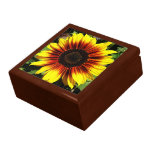 Sunflower Through the Fence Tile Giftbox Jewelry Boxes