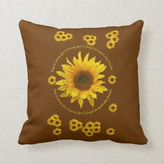 Sunflower Throw Cushion Throw Pillow