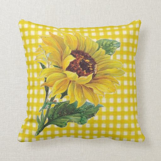Decorative Pillows With Sunflowers : Sunflower Throw Pillow Zazzle