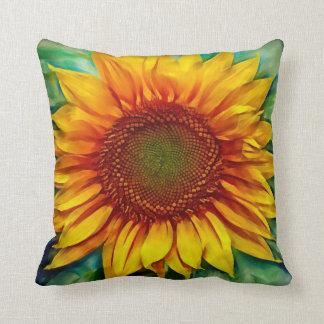 Throw Pillows With Sunflower Design : Sun Flower Pillows - Decorative & Throw Pillows Zazzle